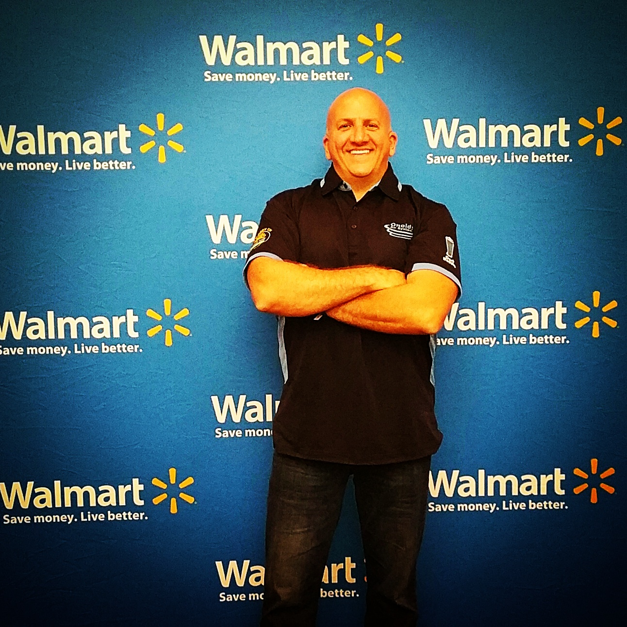 Chris Guerrera out on the red (blue) carpet of Walmart's US Manufacturing Summit